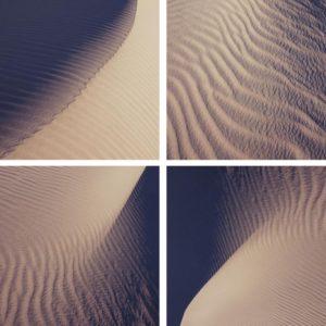 Sand dunes triptych