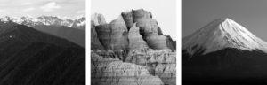 mountain triptych
