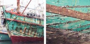 Boats mosaic