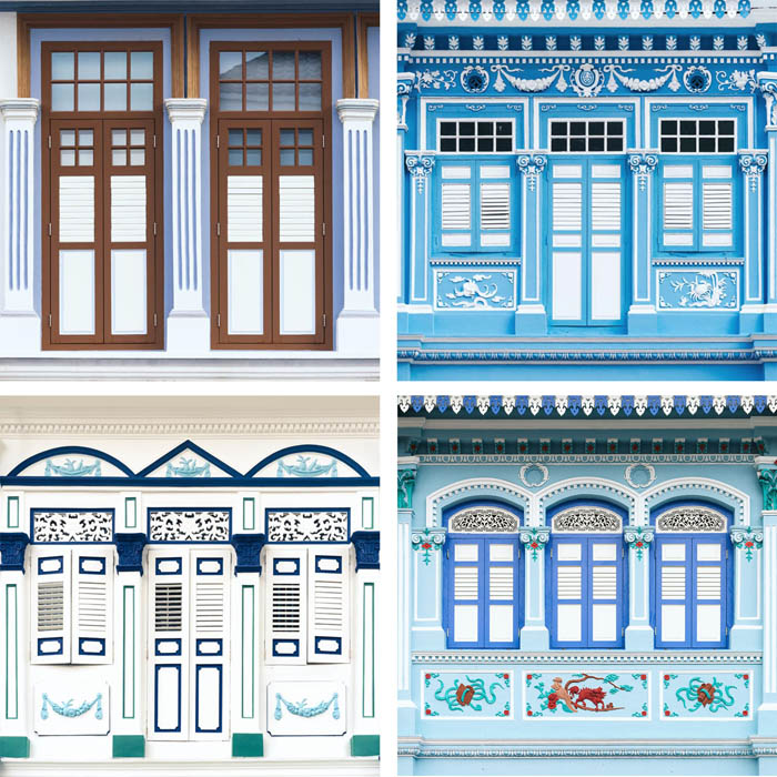 Blue Shophouse Windows