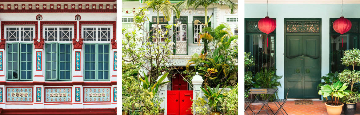 Green and Red Shophouses