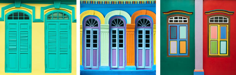 Little India Shophouse Windows