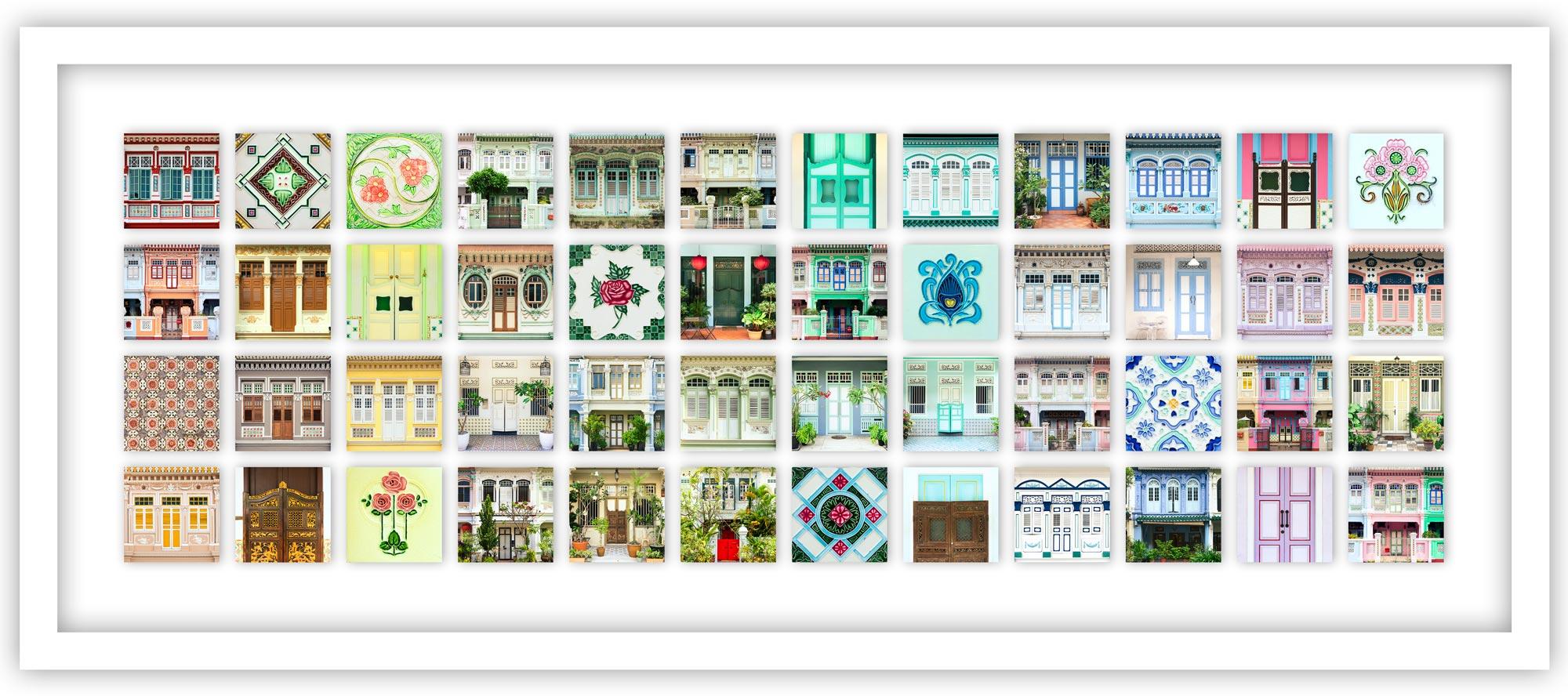 Singapore peranakan shophouses collage